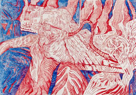 Untitled (2020) Colour pencils, 70-100.j