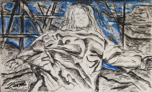 Prophet (2008) Acrylic and Charcoal on Paper