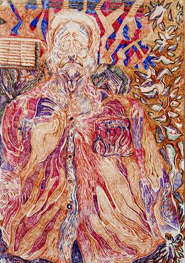 Untitled (2020) Colour pencils, 100-70(1