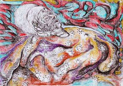 Sinking 2013 Pastel on Paper