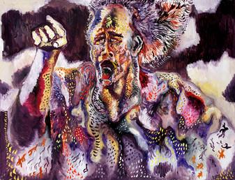 Tevez 2012 Oil on Canvas