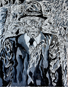 Grand Ungle Srulbeer (2010) Ink on Canvas