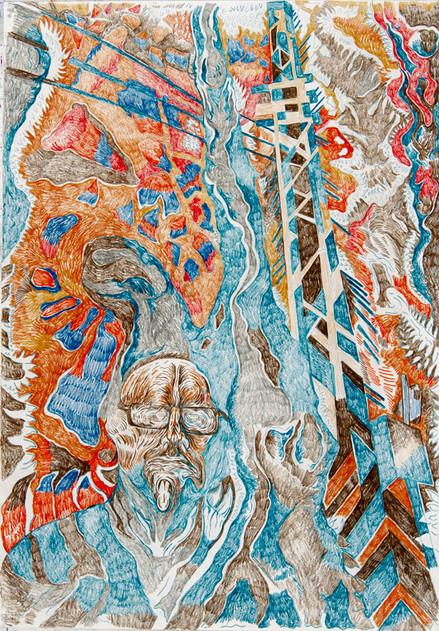 Untitled (2020) Colour pencils on paper,