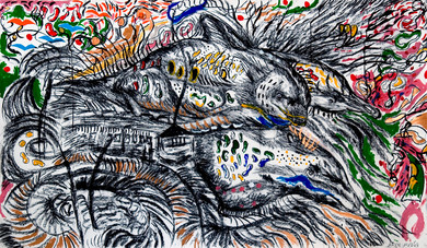 Dolphins (2008) Acrylic and Charcoal on Paper