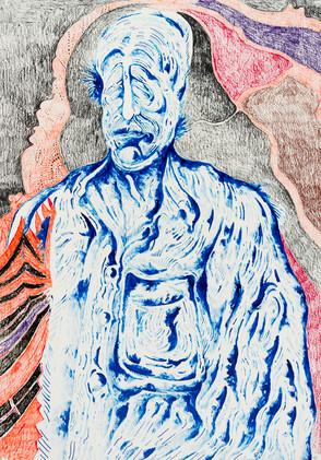 Untitled (2020) Colour pencils on pape,