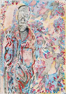 Yoram (2020) Colour pencils on paper, 10