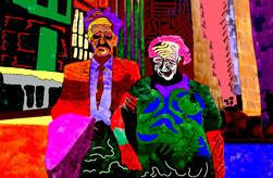 Downtown 3 (2019) digital art on paper