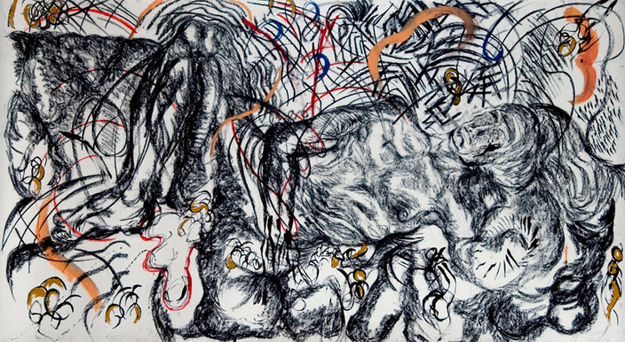 Jacob's Dream (2008) Acrylic and Charcoal on Paper