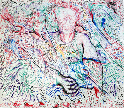 Sermon to the Fishes (2010) Pastel on Paper