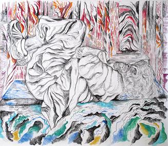 Homeless 2011, Pastel on Paper