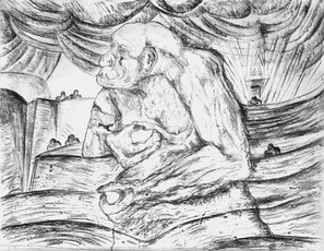 Kafka's Monkey 2009 Charcoal on Paper