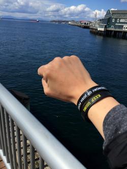 Keep Going Wristband Fabi in Seattle