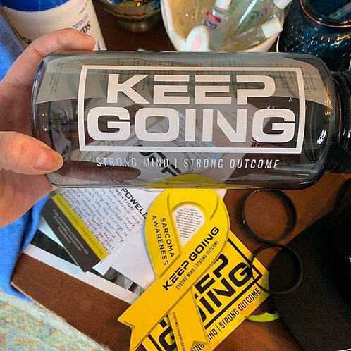 KEEP GOING Wide-Mouth Loop-Top Water Bottle - 32 fl. oz.