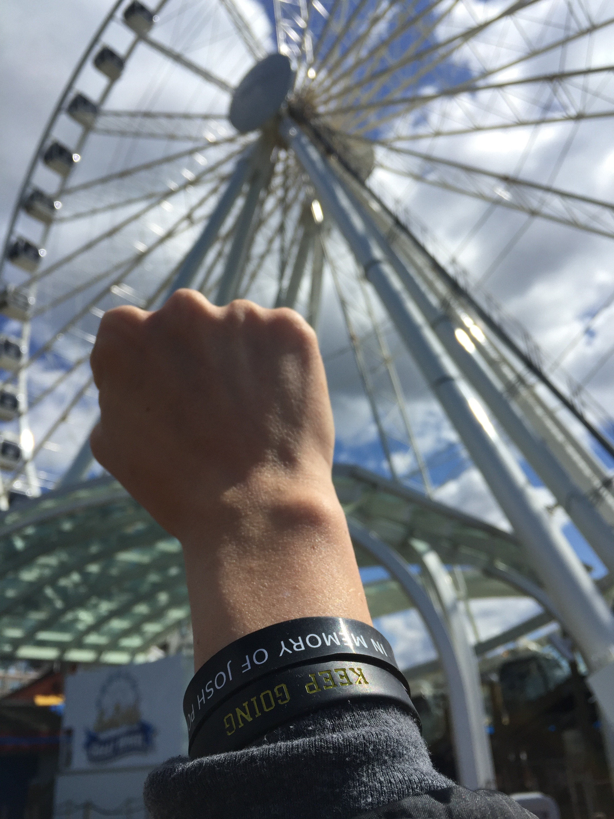Keep Going Wristband JPF Seattle