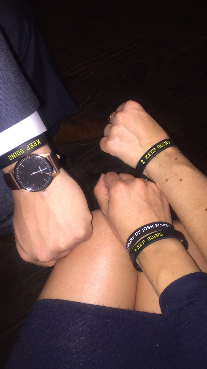 Fabi, Ty, and Dani on Birthday - JPF Keep Going Wristbands