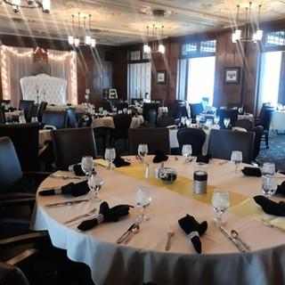 reception dinner area