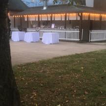 Outdoor bar / appetizer area