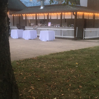 Outdoor bar / appetizer area