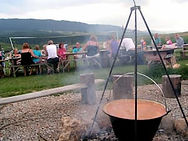 Goulash on a campfire
