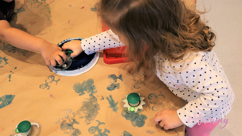 Nubo in Alexandria, Sydney - Little Miss eating getting creative in the art studio