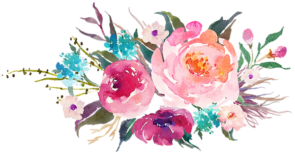Watercolour floral arrangement