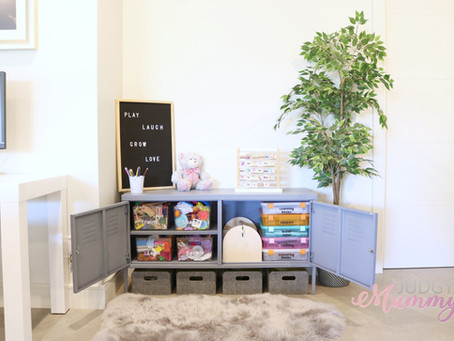 IKEA PS TV Cabinet toy storage hack