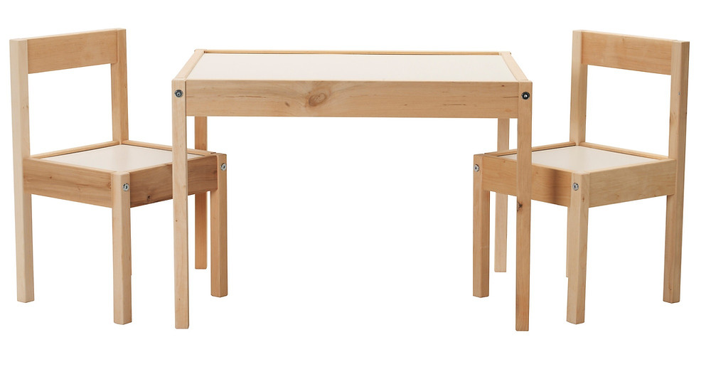 IKEA Latt kids table - before