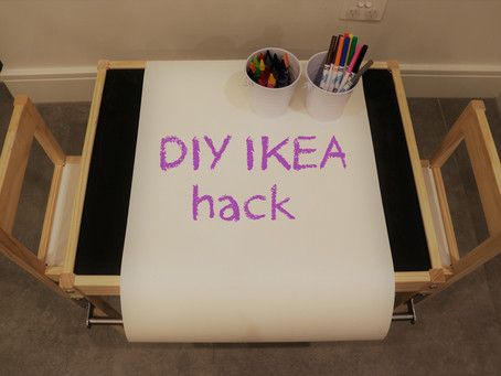 How to turn this IKEA Latt kids table into a craft station on a budget