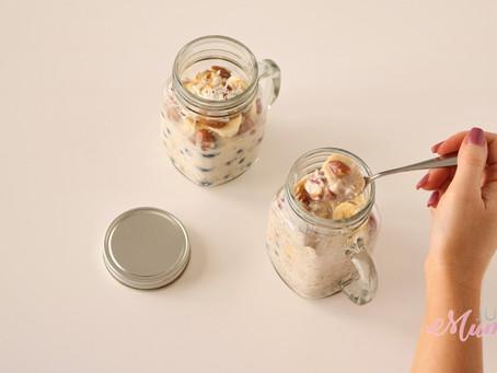 Creamy Blueberry and Banana Overnight Oats Recipe