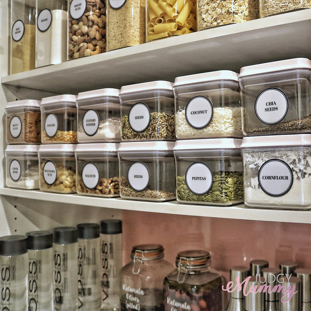 Kitchen pantry organisation - containers from The Organising Platform (1 litre)