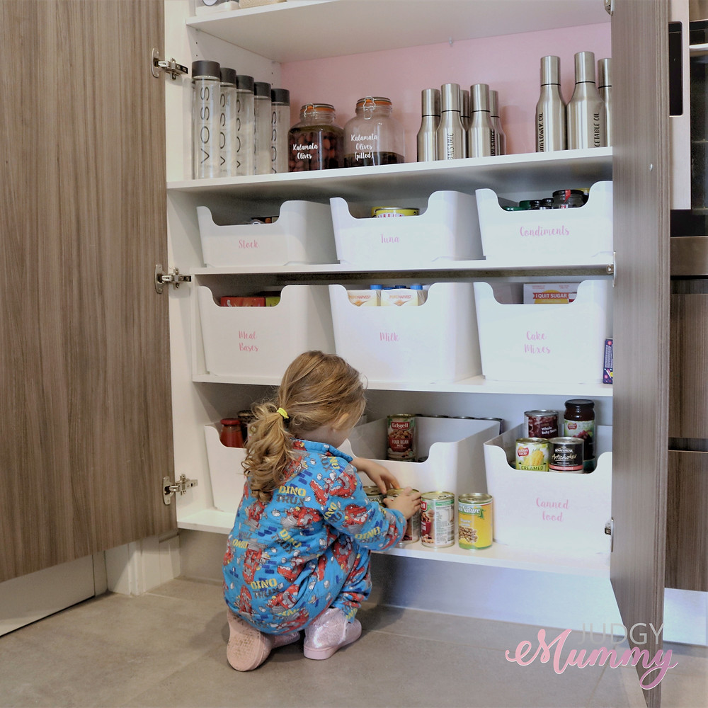 Nina Belle - Judgy Mummy - Kitchen pantry tubs from Ikea