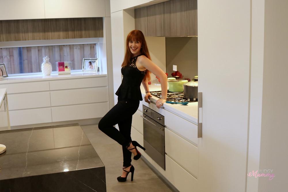 Nina in her kitchen