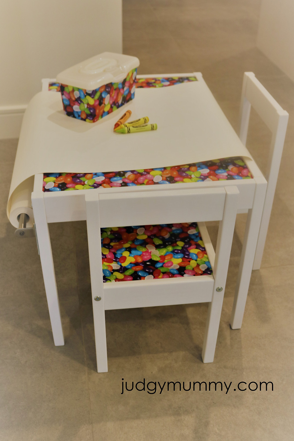 IKEA Latt kids table and chairs revamped