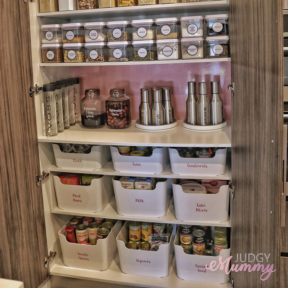 Nina Belle Kitchen Pantry organisation