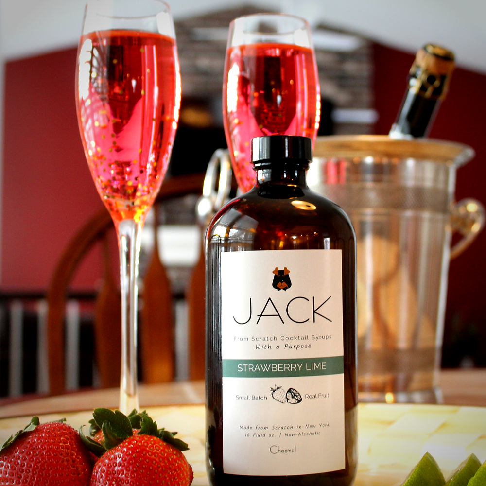 Strawberry Sparkler Cocktail