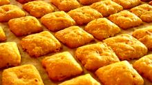 Simple Spelt Cheese Crackers