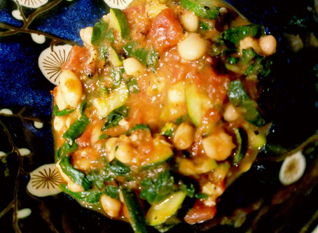 Garlicky White Beans & Kale with Roasted Tomatoes