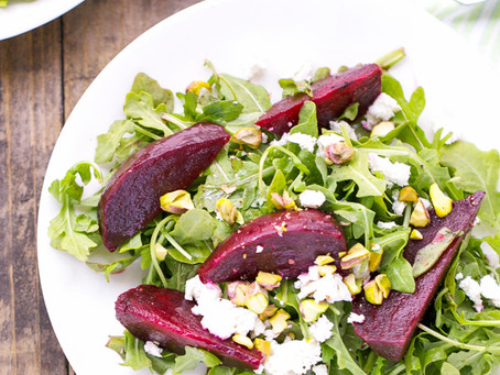 Roasted-Beet and Pistachio Salad