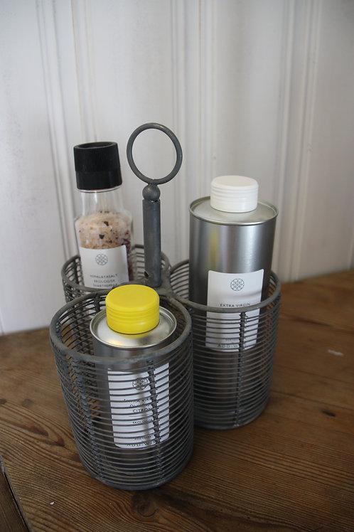 Förvaring för flaskor i zink