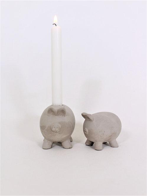 Betong gris ljusstake