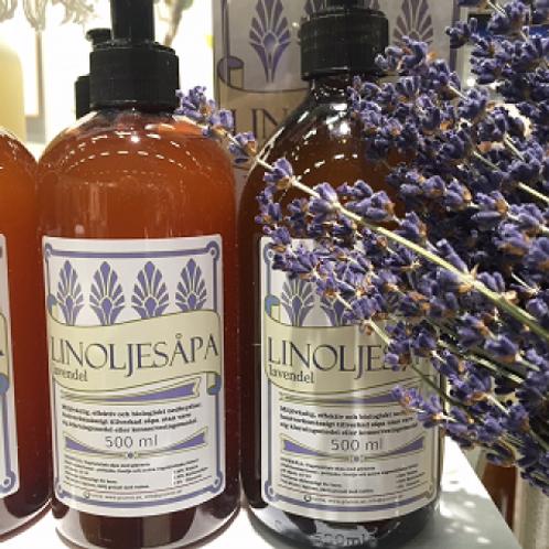 Ekologisk linoljesåpa lavendel
