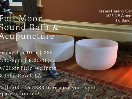 Full Moon Sound Bath & Acupuncture Event!