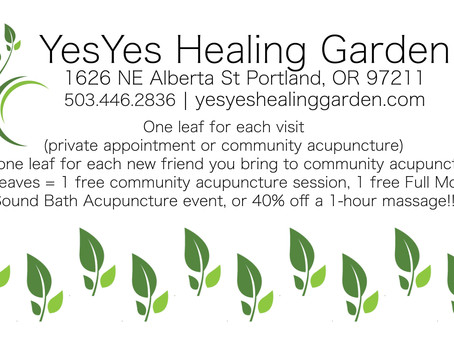 We have a Frequent Client Card!