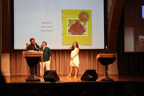 Danez Smith accepts 2015 Lambda Award in Poetry for [insert] boy