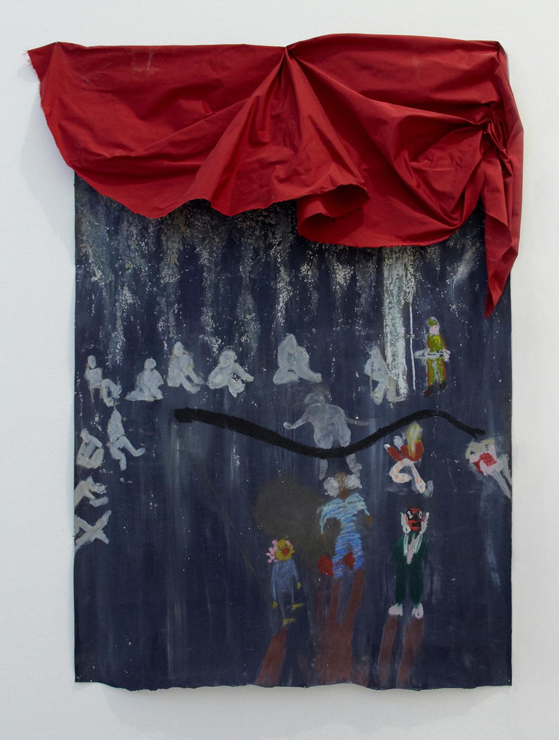 Stage, Stage, 2018  | Oil pastel on neoprene | 90 x 60 cm