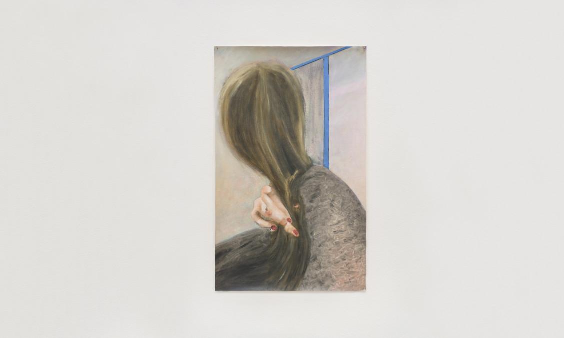 Anxious Madonna, 2016   Oil on canvas   64 x 40 cm