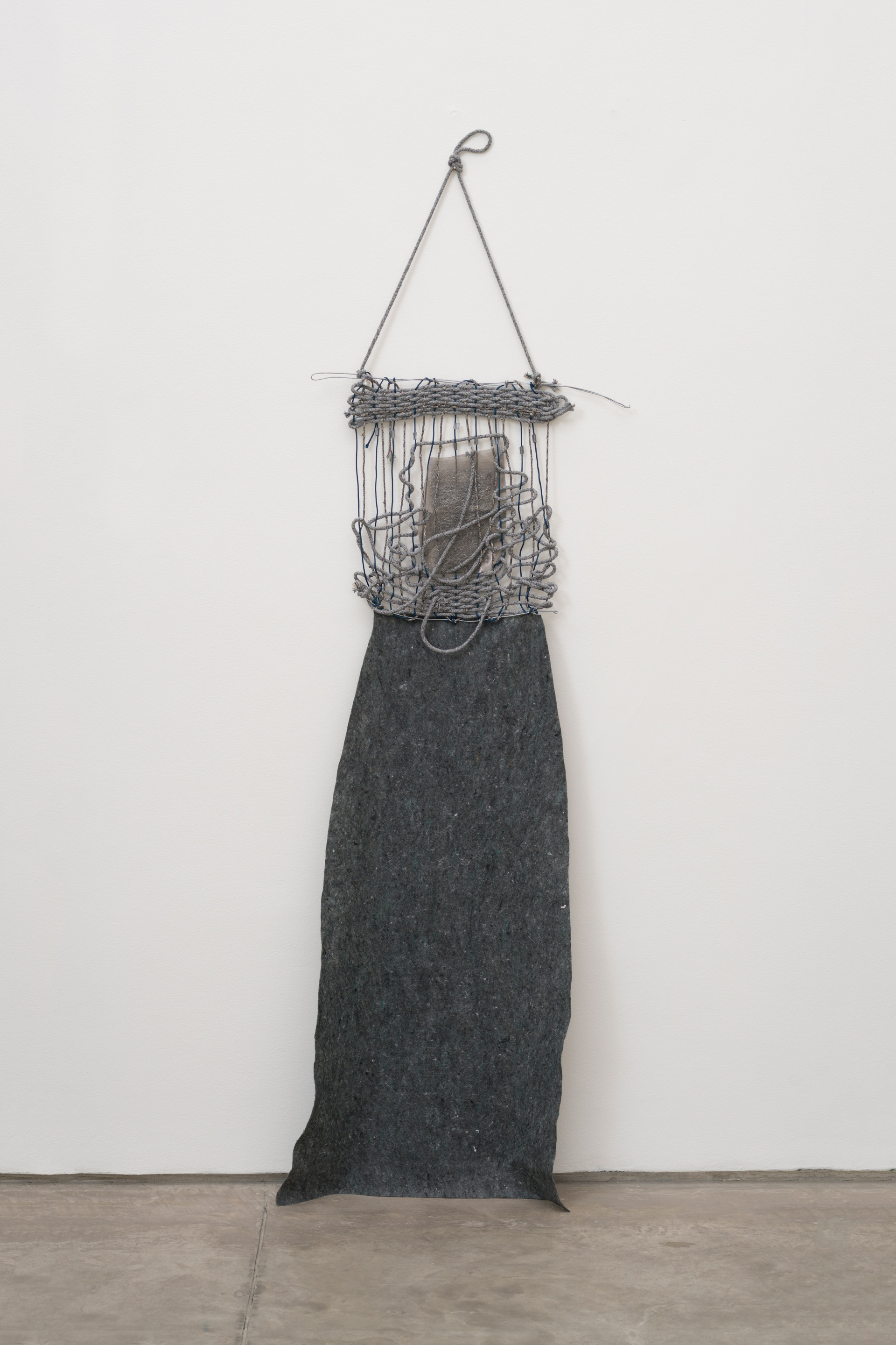 Woman, 2017 | Ropes, wire, gardening blanket and steel wool |