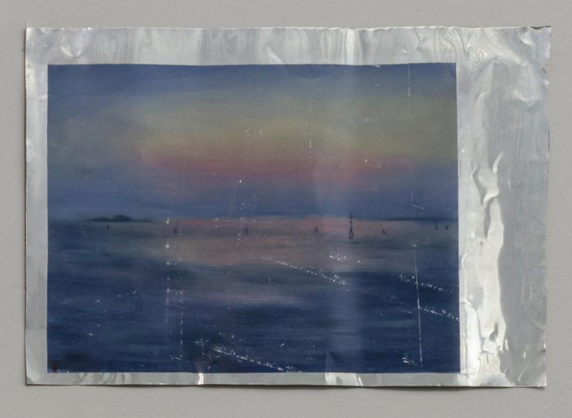 The Arrival, 2016 | Oil on aluminium | 27 x 37 cm
