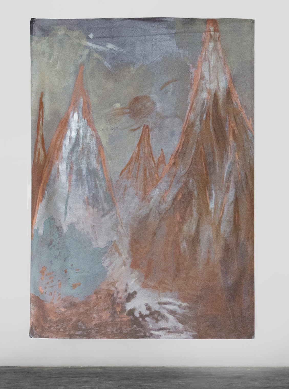 Eruption, 2018 | Synthetic Leather Enamel | 200 x 140 cm