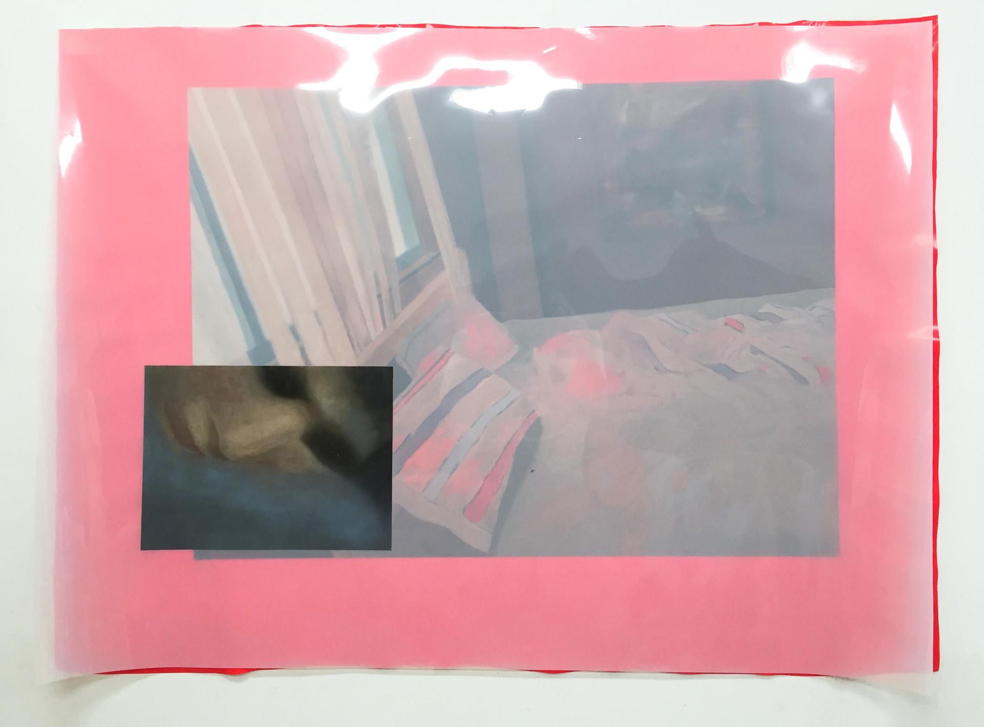 Fever, 2017 } Oil on pvc | 102 x 135 cm
